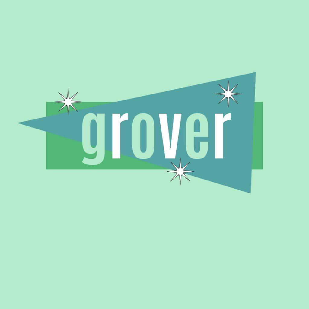 name grover in retro design