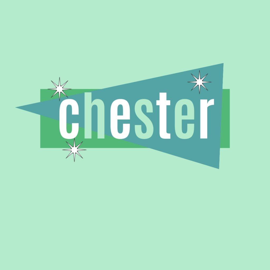 chester in retro lettering