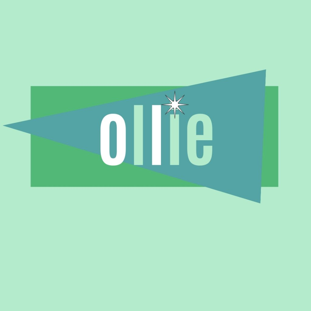 old fashioned name ollie in retro design